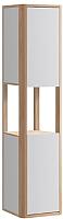 Шкаф-пенал для ванной Belux Альмерия ПН35 (137, белый глянец/натурал.клен, левый) -