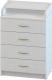 Комод Атон Сириус 604 ЛДСП (с шариковыми направляющими, белый) -