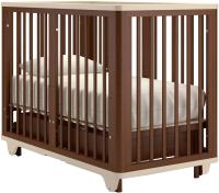 Детская кровать-трансформер Nuovita Ferrara Swing (темный орех) -