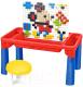Развивающий игровой стол Pituso С конструктором + 1 табурет / 6890403 -