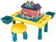 Развивающий игровой стол Pituso С конструктором + 1 табурет / 6937068 -