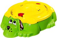 Песочница-бассейн PalPlay Собачка 432 с крышкой (зеленый/желтый) -