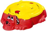 Песочница-бассейн PalPlay Собачка 432 с крышкой (красный/желтый) -