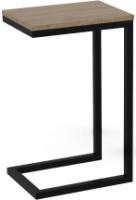 Приставной столик ТитанМетаБел Роксет (дуб денвер трюфель/черный матовый) -
