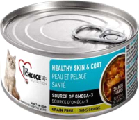 Корм для кошек 1st Choice Adult Healthy Skin & Coat сардина с макрелью в масле тунца (85г) -