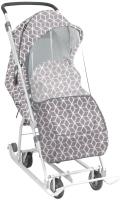 Санки-коляска Ника У3-1К/4 (ромбики, серый) -