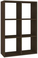 Стеллаж Кортекс-мебель КМ-33 6 секций (венге) -