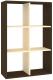 Стеллаж Кортекс-мебель КМ-33 6 секций (венге/венге светлый) -