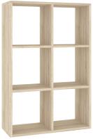 Стеллаж Кортекс-мебель КМ-33 6 секций (дуб сонома) -