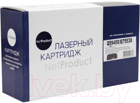 Купить Картридж NetProduct, N-Q5949X/Q7553X, Китай, черный