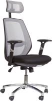 Кресло офисное Седия Spirit (серый/черный) -