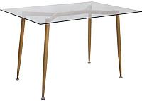 Обеденный стол Седия Gerda (стекло/металл) -
