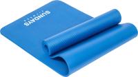 Коврик для йоги и фитнеса Sundays Fitness LKEM-3006B (183x61x1см, голубой) -