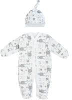 Комплект одежды для новорожденных Amarobaby Soft Hugs Зайчики / AB-OD20-SHZ301/00-56 (белый, р. 56) -