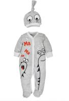 Комплект одежды для новорожденных Amarobaby Monsters / AMARO-ODM301-S0-56 (серый, р. 56) -