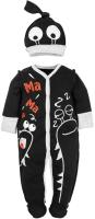 Комплект одежды для новорожденных Amarobaby Monsters / AMARO-ODM301-Bl0-56 (черный, р. 56) -