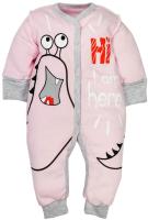 Комбинезон для младенцев Amarobaby Monsters / AMARO-ODM5-R0-62 (розовый, р. 62) -