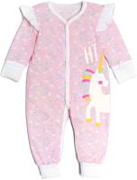 Комбинезон для младенцев Amarobaby Rainbow / AMARO-ODRB5-62 (розовый, р. 62) -