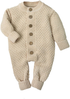 Комбинезон для младенцев Amarobaby Pure Love Wool / AB-OD20-PLW5/03-56 (бежевый, р. 56) -