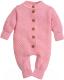 Комбинезон для младенцев Amarobaby Pure Love Wool / AB-OD20-PLW5/20-74 (розовый, р. 74) -