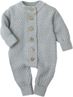 Комбинезон для младенцев Amarobaby Pure Love Wool / AB-OD20-PLW5/11-80 (серый, р. 80) -