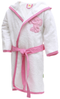Халат детский Kidboo Elephants (р. 1, хлопок/розовый) -