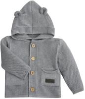 Кофта для младенцев Amarobaby Pure Love / AMARO-OD20-SH1201/11-62 (серый, р. 62) -