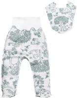 Комплект одежды для новорожденных Amarobaby Soft Hugs Лесная сказка / AMARO-ODSH401-LS-56 (зеленый, р. 56) -