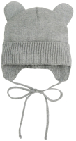 Шапочка для младенцев Amarobaby Pure Love Bear / AB-OD21-PLB16/11-42 (серый, р-р 42-44) -