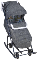 Санки-коляска Ника Наши детки 6 / НДТ6/1 (лама, серый) -