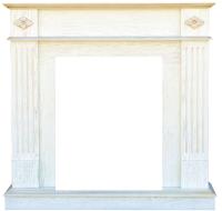 Портал для камина Смолком Brighton Corner STD-ASP (белый дуб/патина золото) -