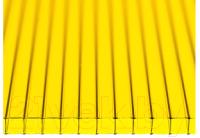 Сотовый поликарбонат КомфортПром Тюльпан 3м 3.8мм (желтый) -