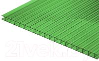 Сотовый поликарбонат КомфортПром Тюльпан 2м 3.8мм (зеленый) -