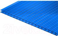 Сотовый поликарбонат КомфортПром Тюльпан 2м 3.8мм (синий) -