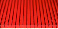 Сотовый поликарбонат КомфортПром Тюльпан 2м 3.8мм (красный) -