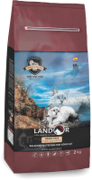 Корм для кошек Landor Для взрослых кошек с индейкой с бататом / 7843116 (2кг) -