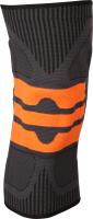 Суппорт колена Indigo IN218 (XL, черный/оранжевый) -