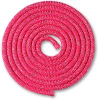 Скакалка для художественной гимнастики Indigo Люрекс SM-122 (2.5м, фуксия) -