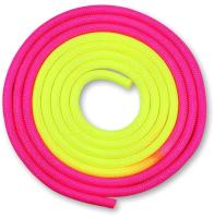 Скакалка для художественной гимнастики Indigo IN041 (3м, желтый/розовый) -