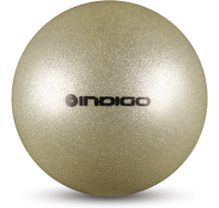 Мяч для художественной гимнастики Indigo IN118 (серебряный с блестками) -