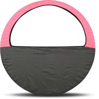 Чехол для гимнастического обруча Indigo SM-083 (розовый/серый) -