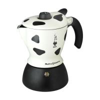 Гейзерная кофеварка Bialetti Mukka капучино пятнистая 21023  (3418) -