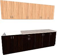Готовая кухня Хоум Лайн Агата 2.6 (венге/дуб сонома) -