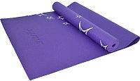 Коврик для йоги и фитнеса Starfit FM-102 (173x61x0.4см, фиолетовый) -