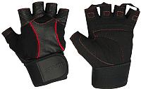 Перчатки для пауэрлифтинга Starfit SU-120 (L, черный) -