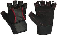 Перчатки для пауэрлифтинга Starfit SU-120 (XL, черный) -