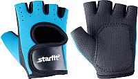 Перчатки для пауэрлифтинга Starfit SU-107 (L, синий/черный) -