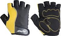 Перчатки для пауэрлифтинга Starfit SU-108 (S, желтый/черный) -