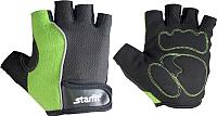 Перчатки для пауэрлифтинга Starfit SU-108 (L, зеленый/черный) -