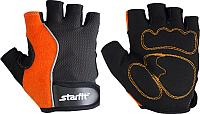Перчатки для пауэрлифтинга Starfit SU-108 (M, оранжевый/черный) -